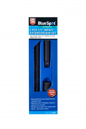 "BlueSpot 3 Pce 1/2"" Impact Extension Bar Set"