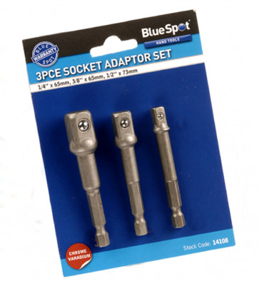 "BlueSpot 3 PCE Socket Adaptor Set (1/4"", 3/8"" & 1/2"")"