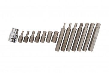 BlueSpot 15 Pce Hex Bit Set (H4-H12)