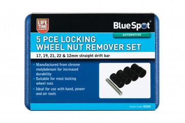 BlueSpot 5 Pce Locking Wheel Nut Remover Set
