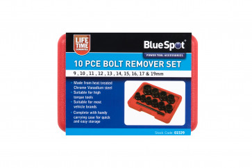 BlueSpot 10 PCE Bolt Remover Set (9-19mm)