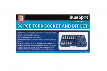 BlueSpot 34PCE Torx Socket and Bit Set
