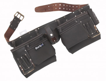 BlueSpot Deluxe Oil Tanned Leather Double Tool Belt
