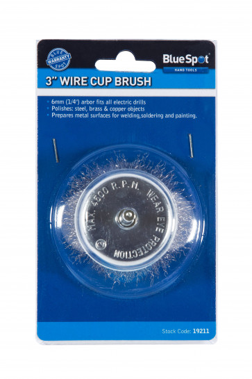 """BlueSpot 75mm (3"""") Wire Cup Brush"""