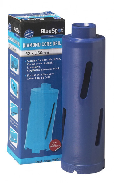 BlueSpot 52 X 150mm Diamond Core Drill