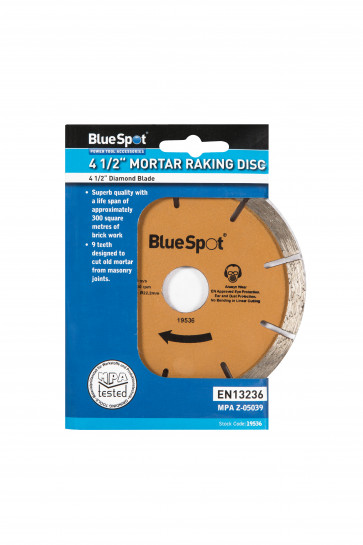 "BlueSpot 115mm (4.5"") Diamond Mortar Raking Disc"