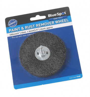 """BlueSpot 100mm (4"""") Rust Remover Grinding Wheel with Shank"""