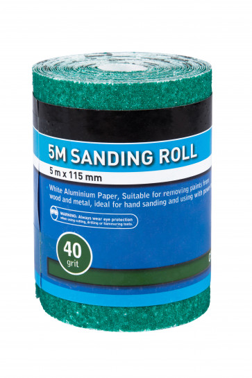 BlueSpot 5mtr 115mm Sanding Roll 40 Grit