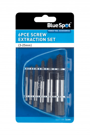 BlueSpot 6 PCE Screw Extraction Set (3-25mm)