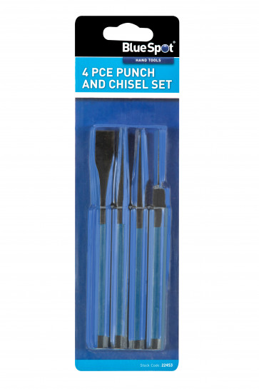 BlueSpot 4 Pce Punch and Chisel Set