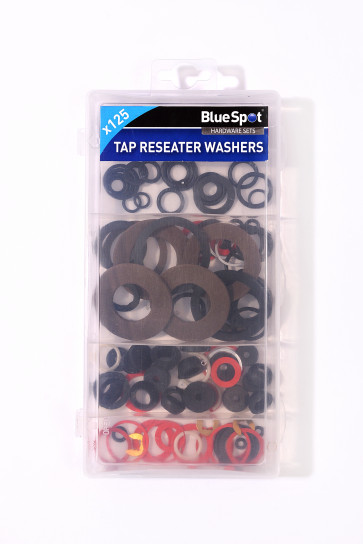 BlueSpot 125 PCE Assorted Tap Reseater Washer Set