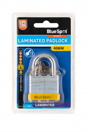 BlueSpot 40mm Laminated Padlock