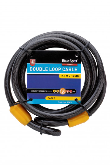 BlueSpot 2.1m x 12mm Double Loop Cable