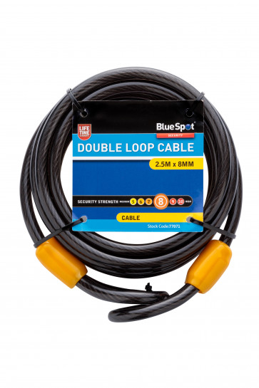 BlueSpot 2.5m x 8mm Double Loop Cable