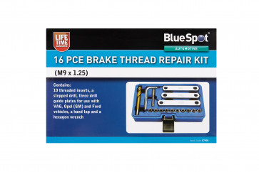BlueSpot 16PCE Brake Thread Repair Kit (M9 x 1.25)