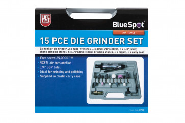 BlueSpot 15PCE Air Die Grinder Set