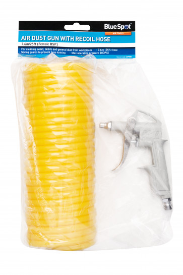 BlueSpot Air Dust Gun with Nylon Recoil Hose (7.6m/25ft) (Female BSP)