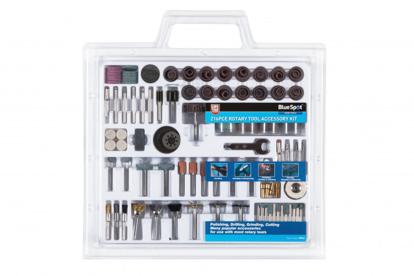 BlueSpot 216 Pce Rotary Tool Accessory Set - Default Store