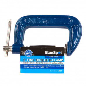 "BlueSpot 75mm (3"") Fine Thread G-clamp"