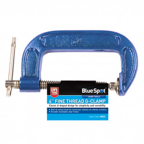 "BlueSpot 100mm (4"") Fine Thread G-Clamp"