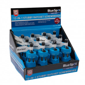 BlueSpot 12 in 1 Stubby Reversible Ratchet Screwdriver