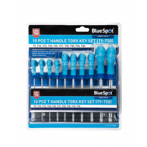 BlueSpot 10 PCE T Handle Torx Key Set (T9-T50)