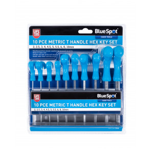 BlueSpot 10 PCE Metric T Handle Hex Key Set (2-10mm)