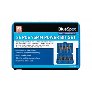 BlueSpot 36 Pce 75mm Power Bits Set