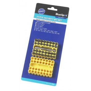 BlueSpot 33 Pce Security Screwdriver Bit Set