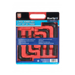 BlueSpot 6PCE Jumbo Hex Key Set (8-19mm)
