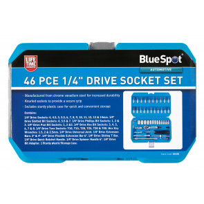 "BlueSpot 46 PCE 1/4"" Metric Socket Set (4-14mm)"