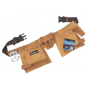 BlueSpot Professional Leather Double Tool Belt