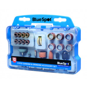 BlueSpot 31 PCE Rotary Tool Sanding and Grinding Accessory Set