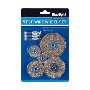 BlueSpot 5PCE Wire Wheel Set