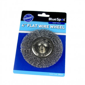 "BlueSpot 100mm (4"") Flat Wire Wheel Brush"