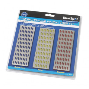 BlueSpot 3 PCE 150mm x 50mm Diamond Sharpening Whetstone Set