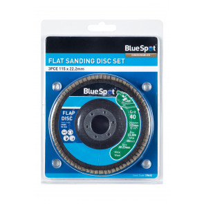 "BlueSpot 3 PCE 115mm (4.5"") Flap Sanding Disc Set"