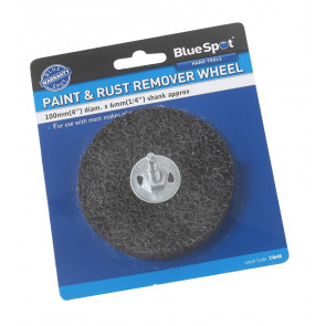 "BlueSpot 100mm (4"") Rust Remover Grinding Wheel with Shank"