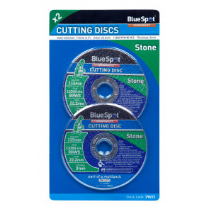 "BlueSpot Twin Pack 115mm (4.5"") Stone Cutting Discs"