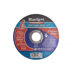 "BlueSpot 115mm (4.5"") Stainless Steel Cutting Disc"