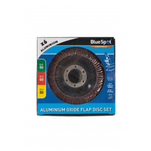 "BlueSpot 6 PCE 115mm (4.5"") Aluminium Oxide Flap Disc Set"