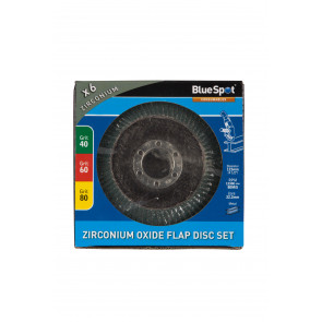 "BlueSpot 6 PCE 115mm (4.5"") Zirconium Oxide Flap Disc Set"
