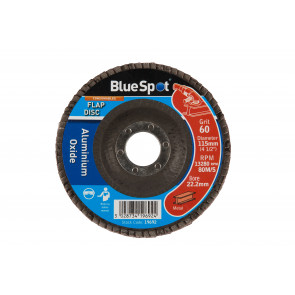 "BlueSpot 115mm (4.5"") 60 Grit Aluminium Oxide Flap Disc"