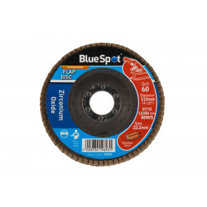 "BlueSpot 115mm (4.5"") 60 Grit Zirconium Oxide Flap Disc"