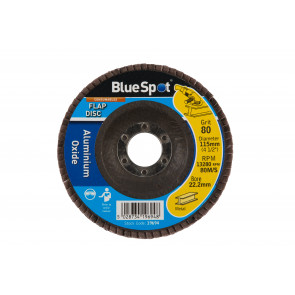"BlueSpot 115mm (4.5"") 80 Grit Aluminium Oxide Flap Disc"
