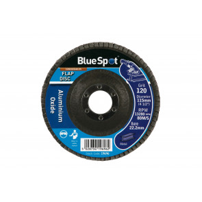 "BlueSpot 115mm (4.5"") 120 Grit Aluminium Oxide Flap Disc"