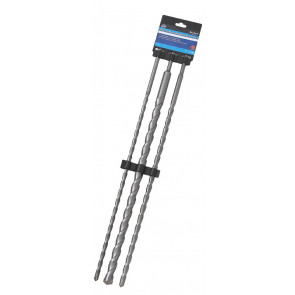 BlueSpot 3 Pce 600mm SDS Plus Drill Bit Set