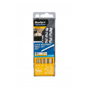 BlueSpot 5 Pce Masonry Drill Bit Set (4-10mm)