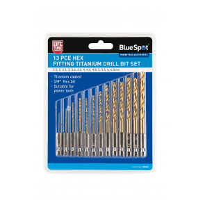 BlueSpot 13 Pce Hex Fitting Titanium Drill Bit Set