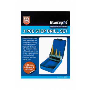 BlueSpot 3PCE Step Drill Set (4-32mm)